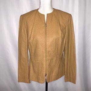 Liz Claiborne Petite Vintage Leather Jacket 12 P